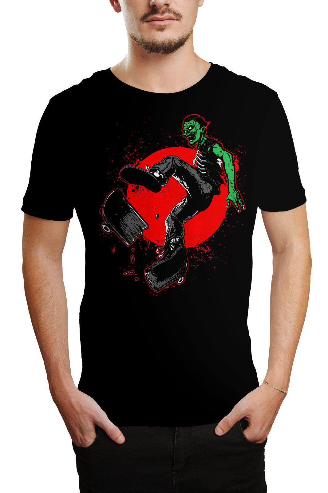 Camiseta Zumbi Skate - Tamanho GG  - HShop