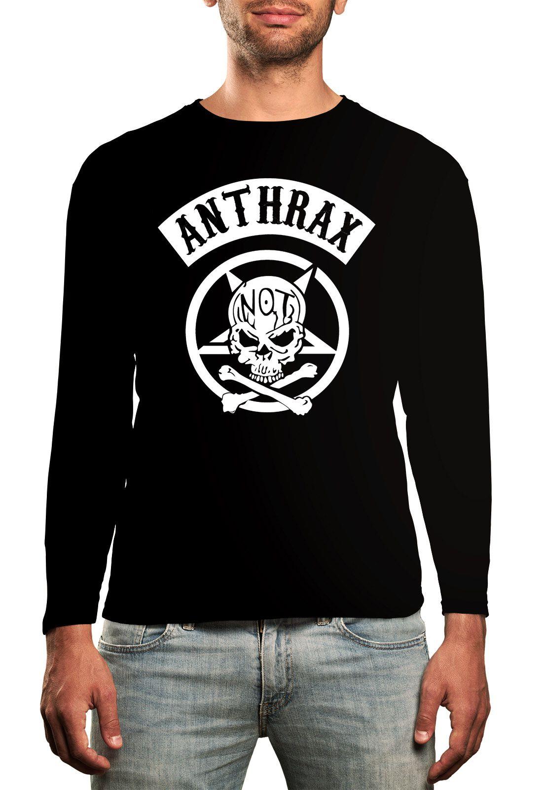 Manga Longa Anthrax - Preto  - HShop