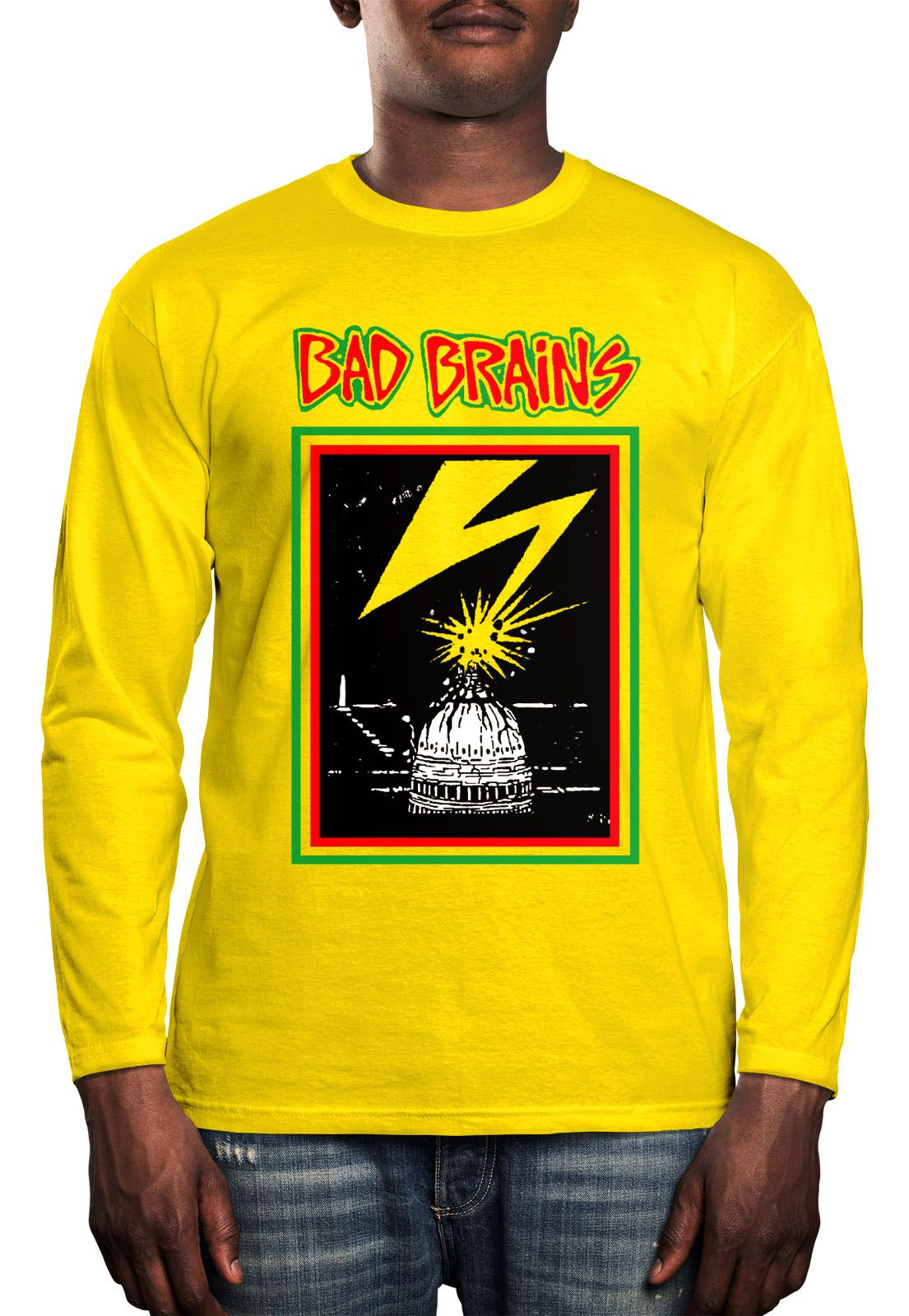 Manga Longa Bad Brains - Amarelo  - HShop