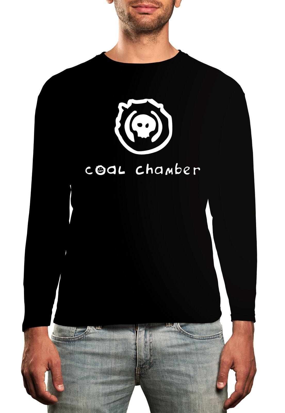 Manga Longa Coal Chamber - Preto  - HShop