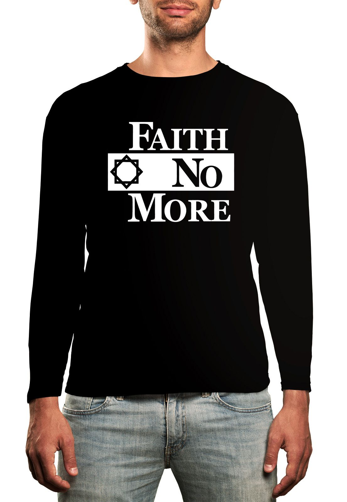 Manga Longa Faith No More - Preto  - HShop