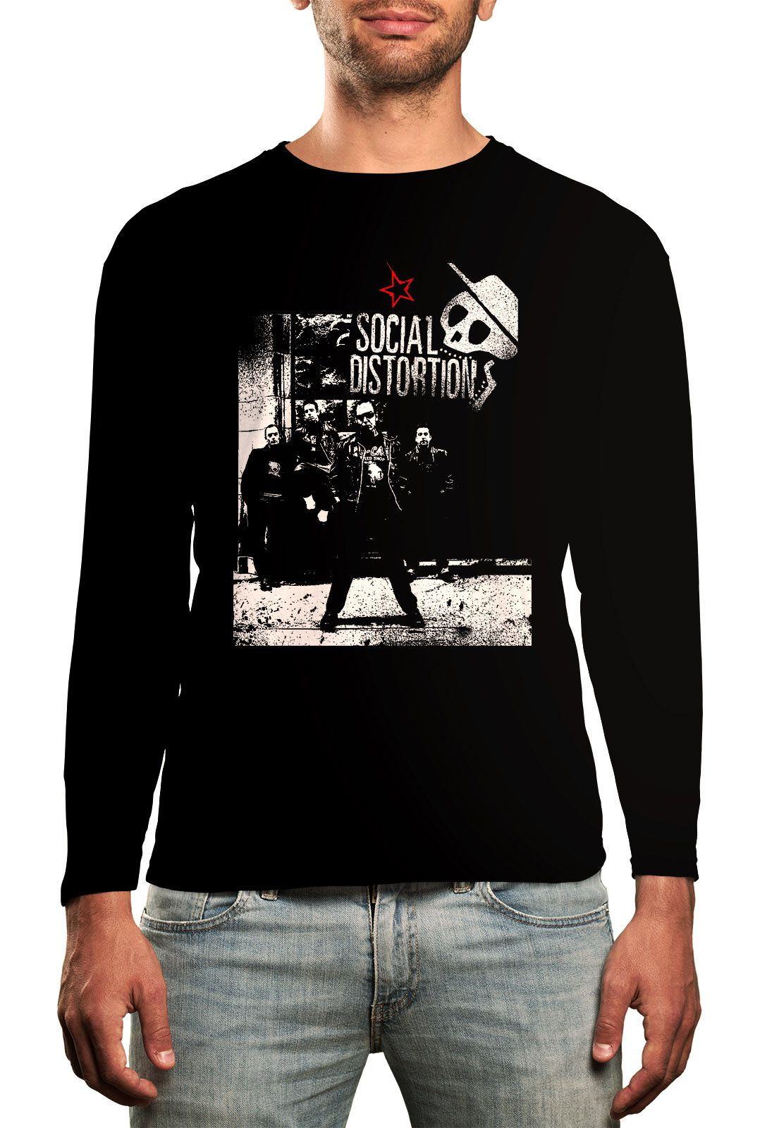 Manga Longa Social Distortion  - HShop