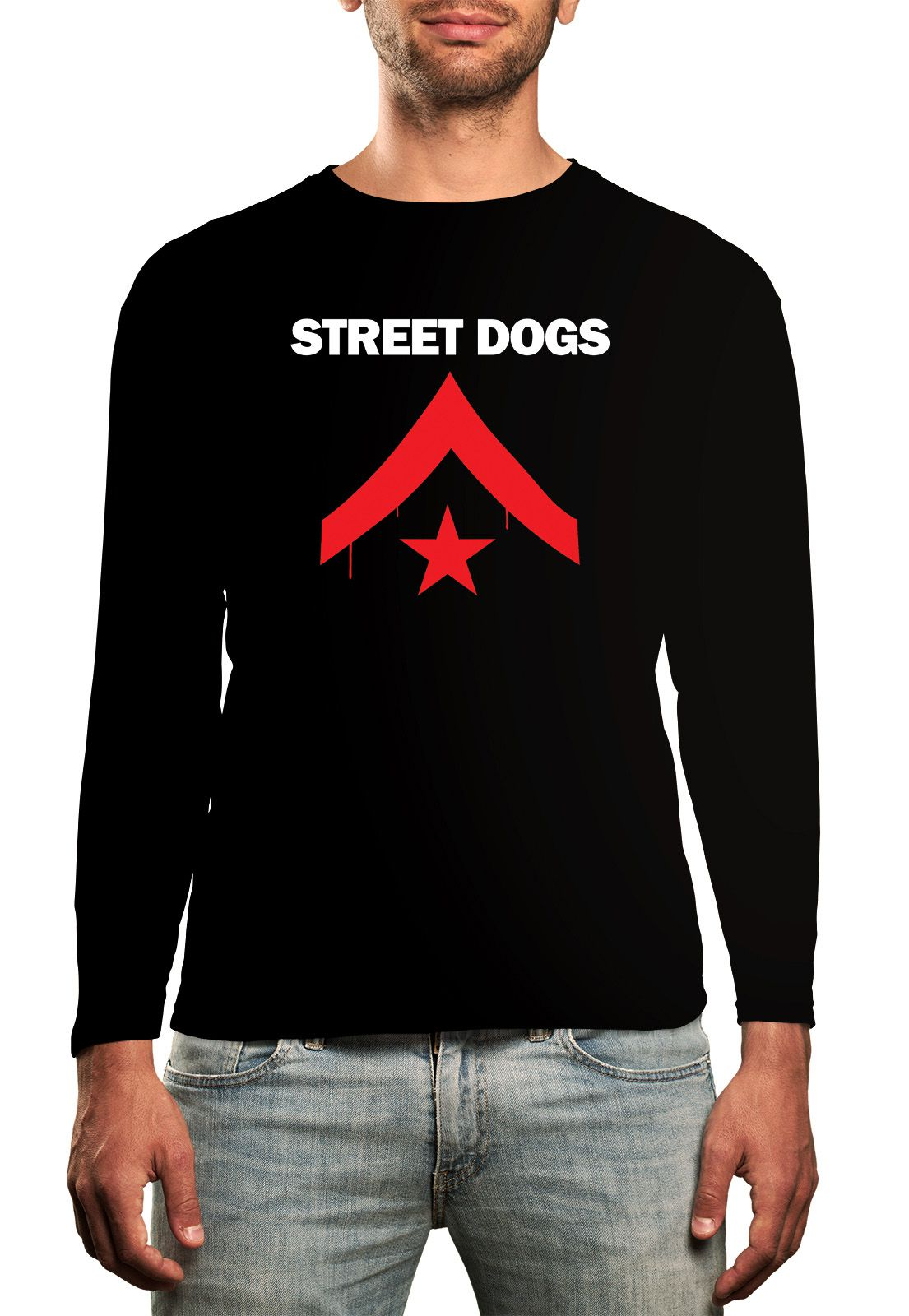 Manga Longa Street Dogs - Preto  - HShop