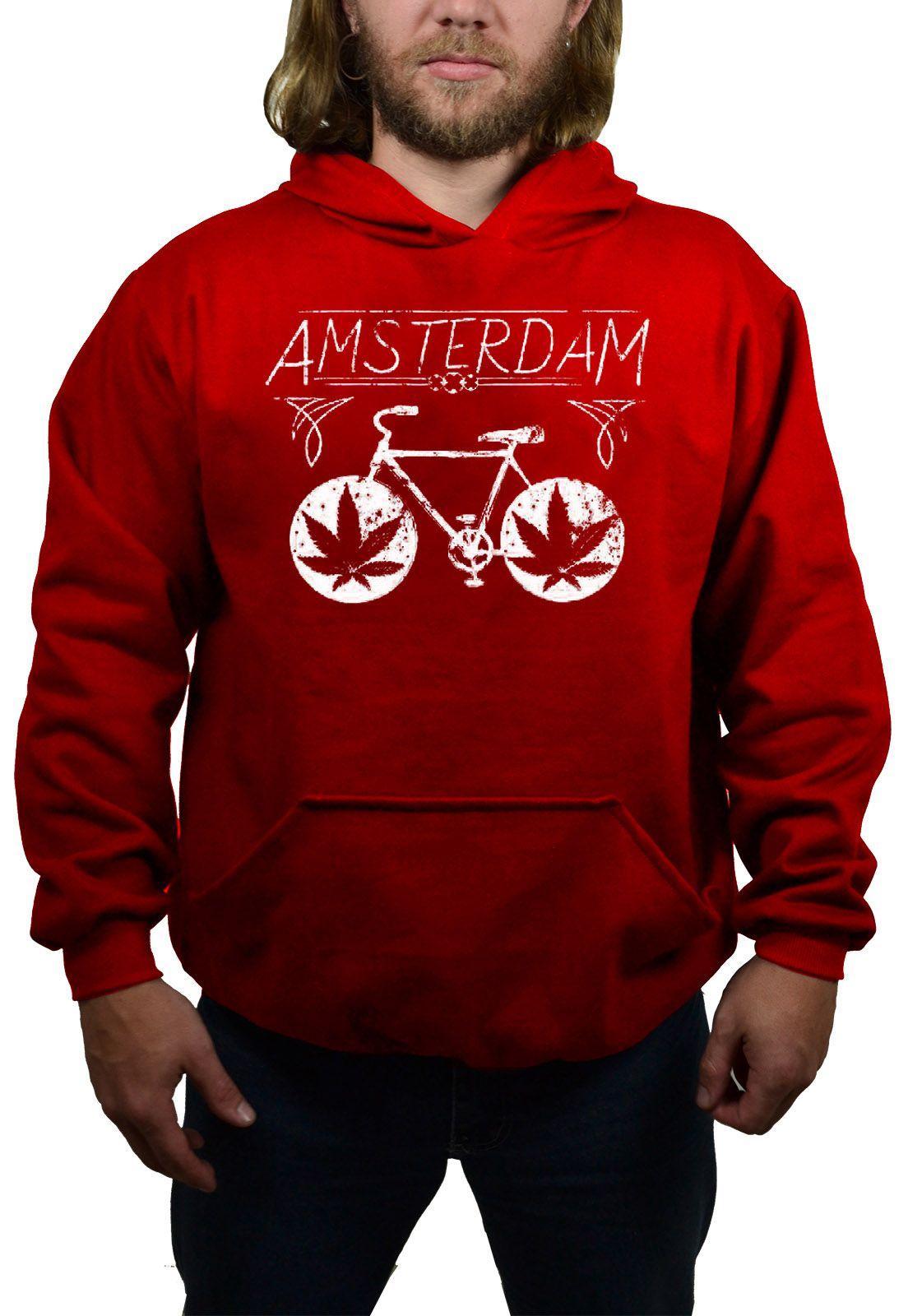 Moletom Amsterdam Bike Vermelho  - HShop