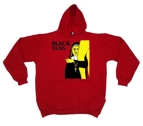 Moletom Black Flag Freira Vermelho  - HShop