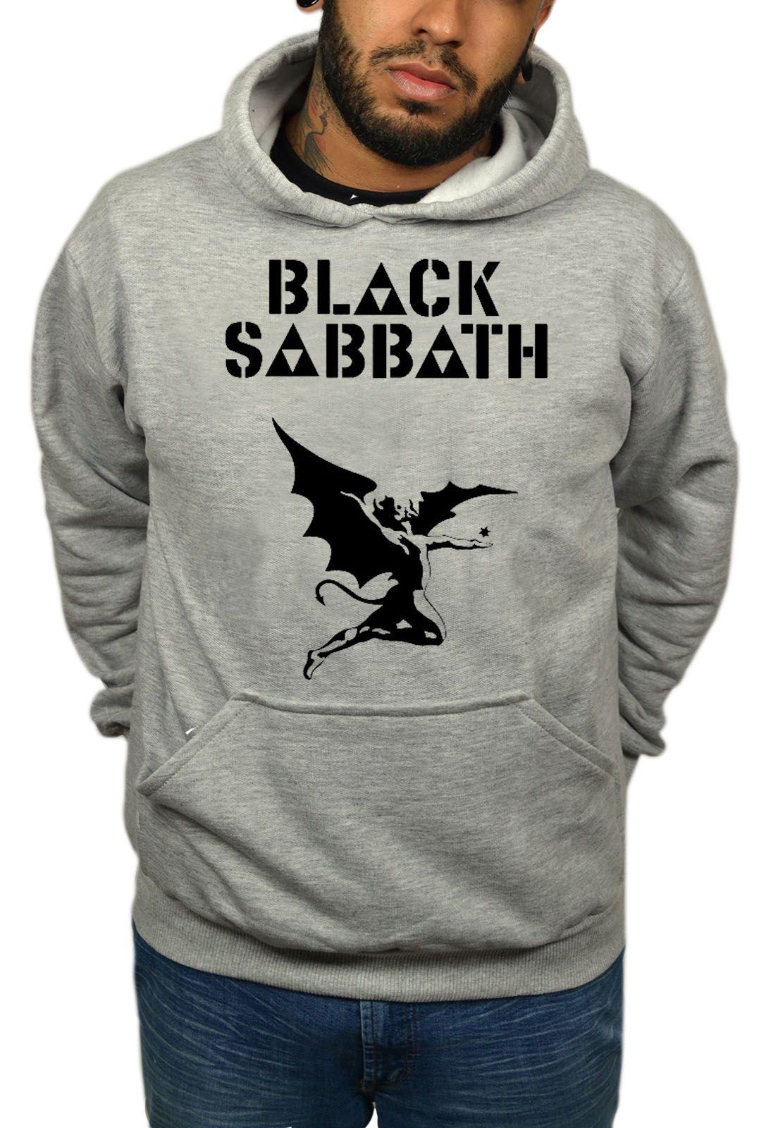 Moletom Black Sabbath - Demon - Mescla Cinza Mescla  - HShop
