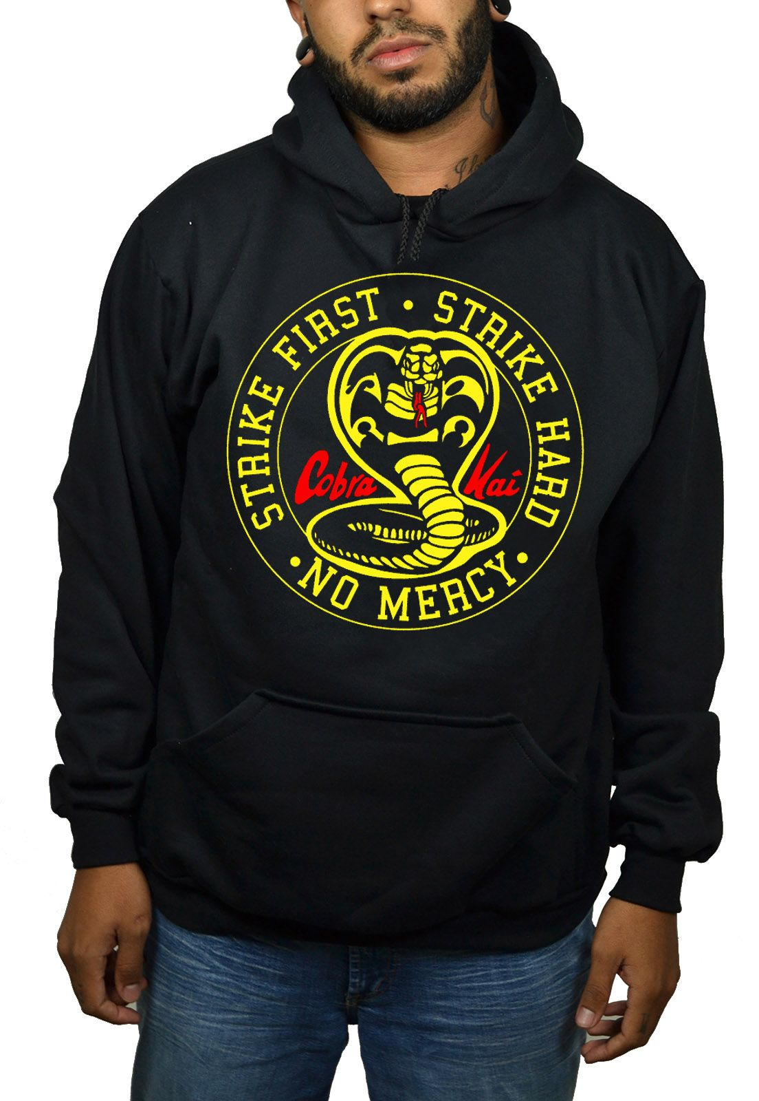Moletom Cobra Kai - Strike First Preto  - HShop