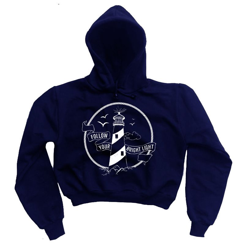 Moletom Cropped Farol - Azul marinho   - HShop