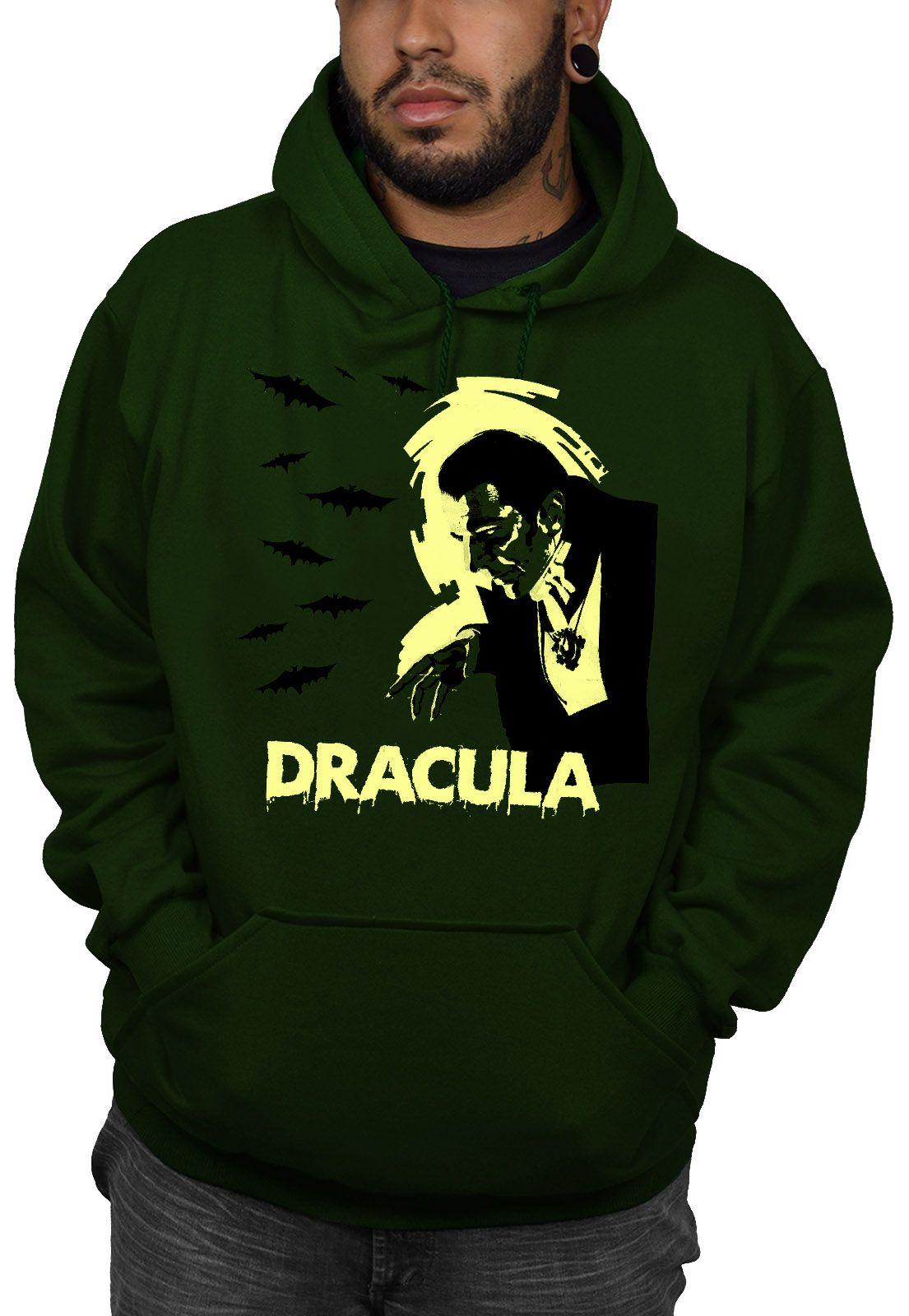 Moletom Dracula Clássico - Verde Musgo  - HShop