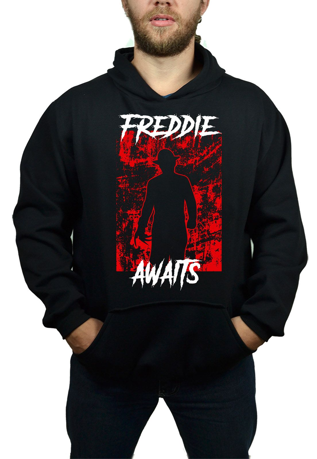 Moletom Freddie Krueger Awaits Preto  - HShop