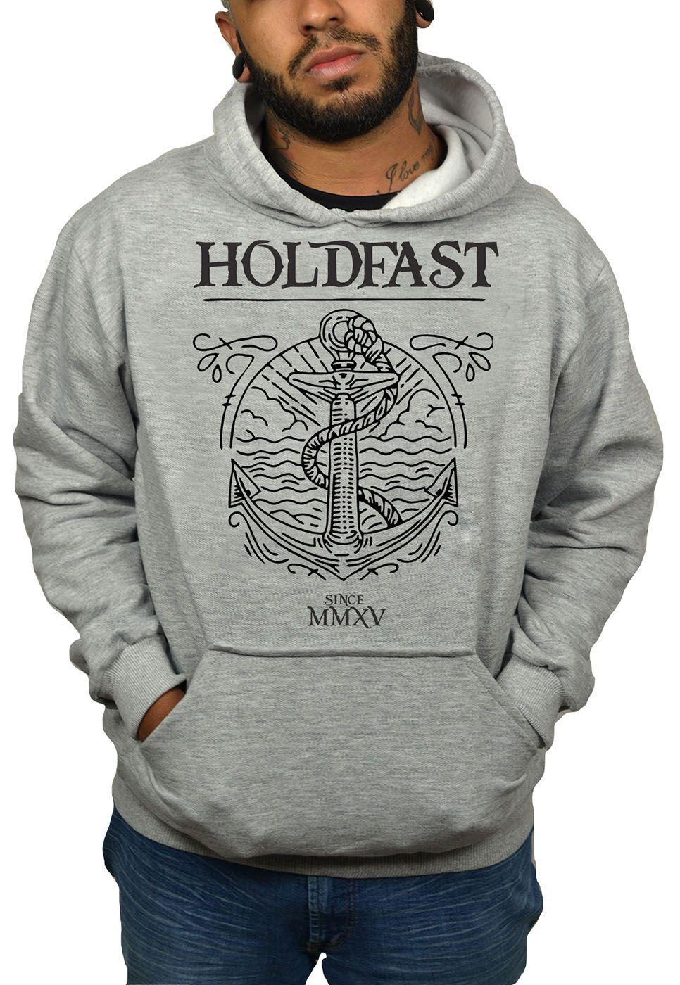 Moletom Holdfast Anchor Cinza Mescla  - HShop