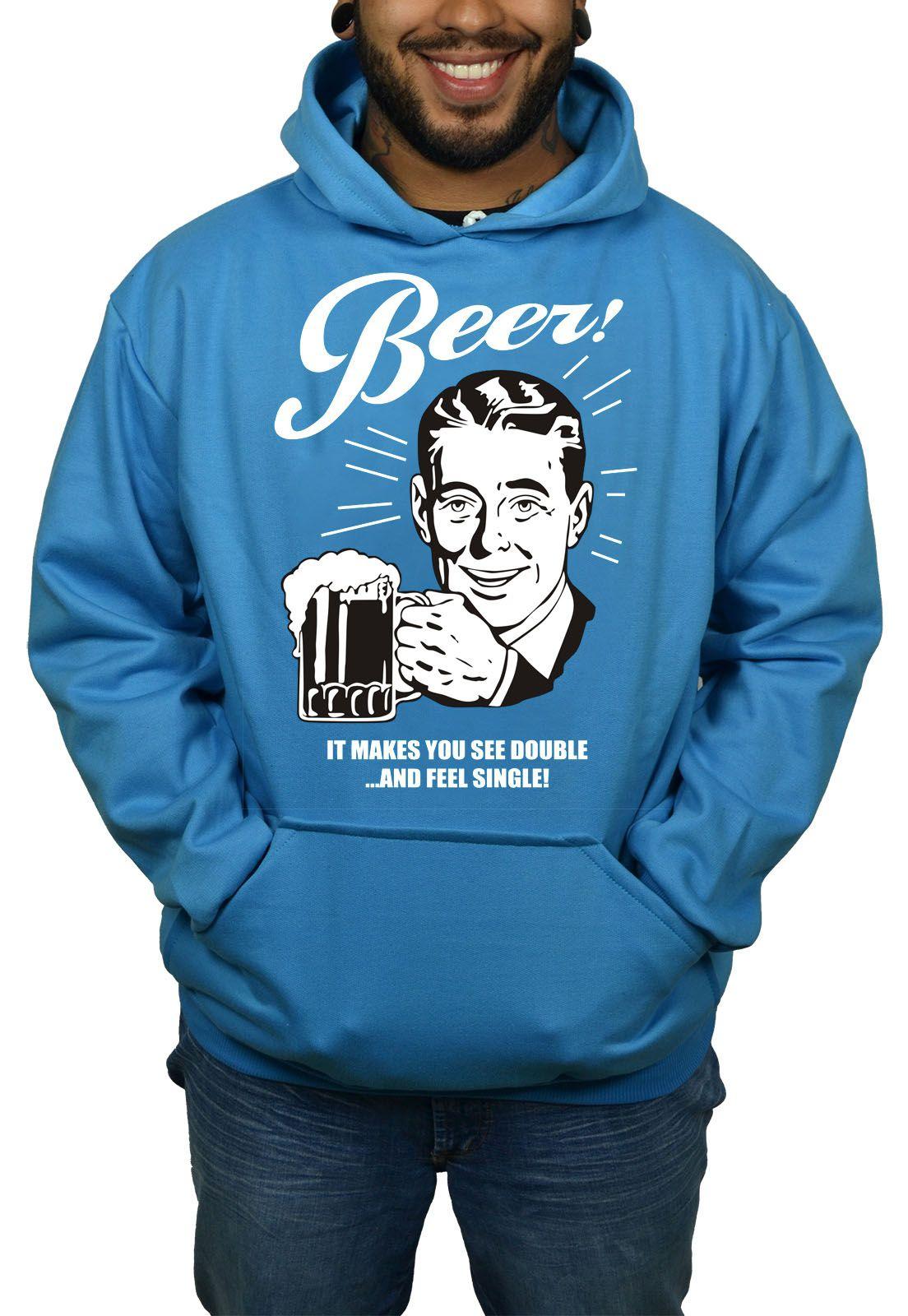Moletom Hshop Beer Cerveja Vintage - Azul Turquesa  - HShop