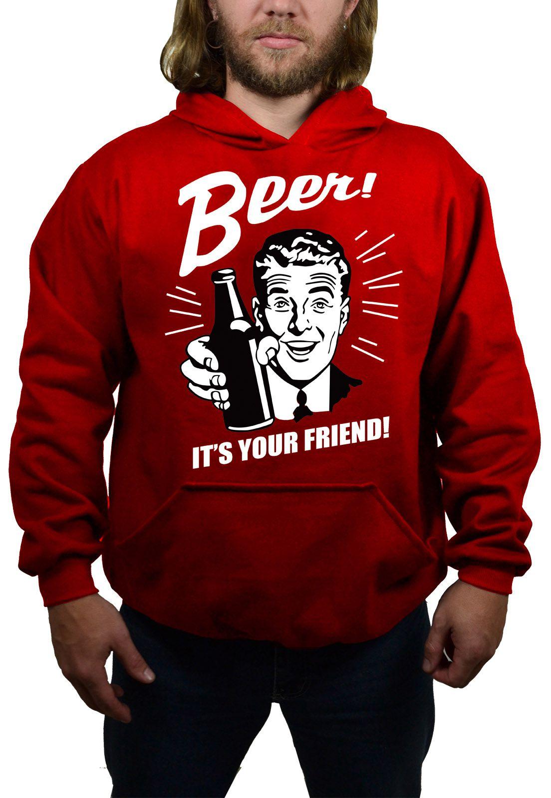 Moletom Hshop Beer Garrafa - Vermelho  - HShop