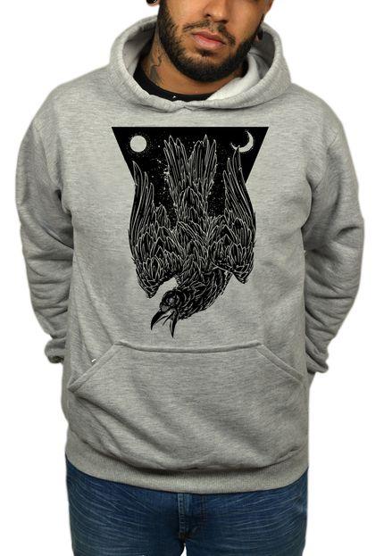 Moletom HShop Crow Cinza.  - HShop