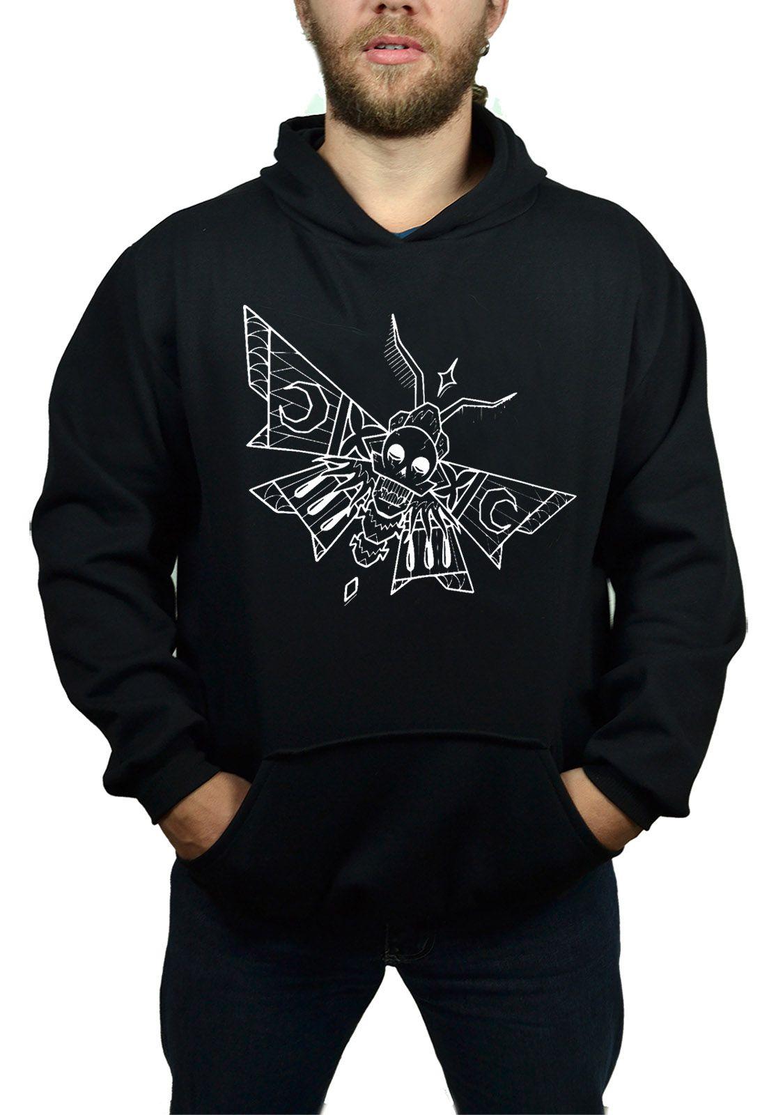 Moletom Hshop Skull Fly - Preto  - HShop