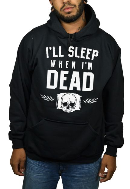 Moletom HShop Sleep  When Dead Preto.  - HShop