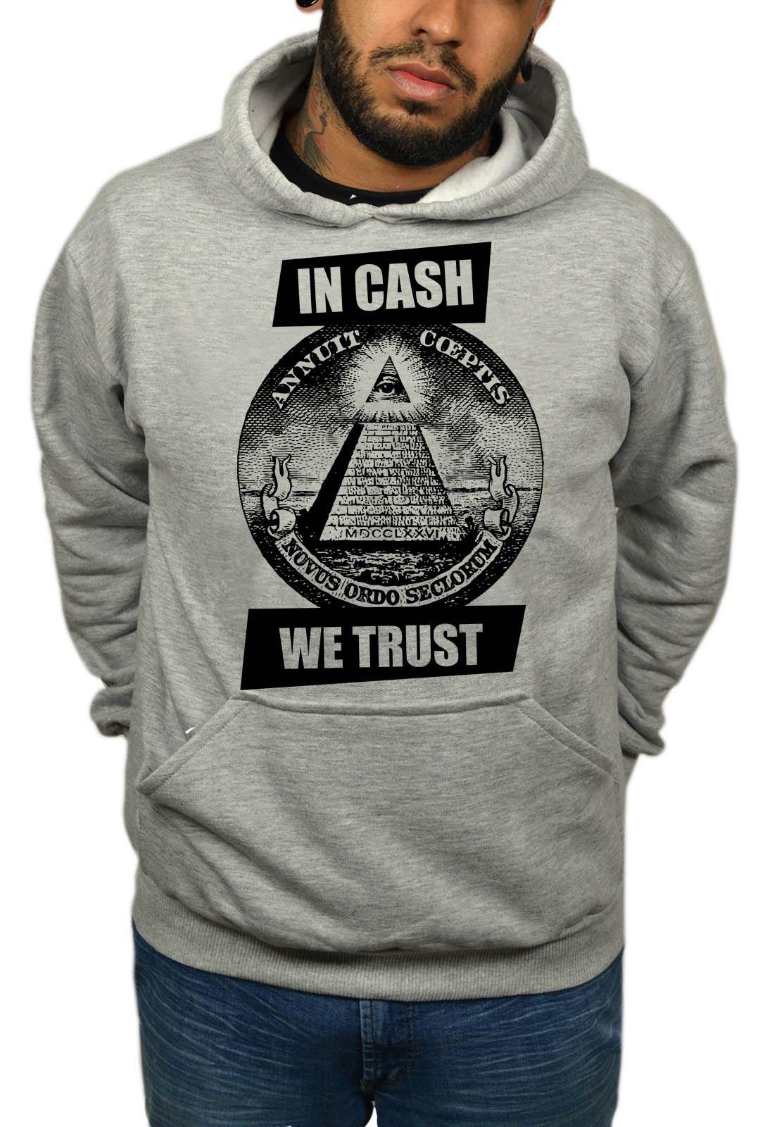 Moletom BUK In Cash We Trust - Cinza Mescla  - HShop