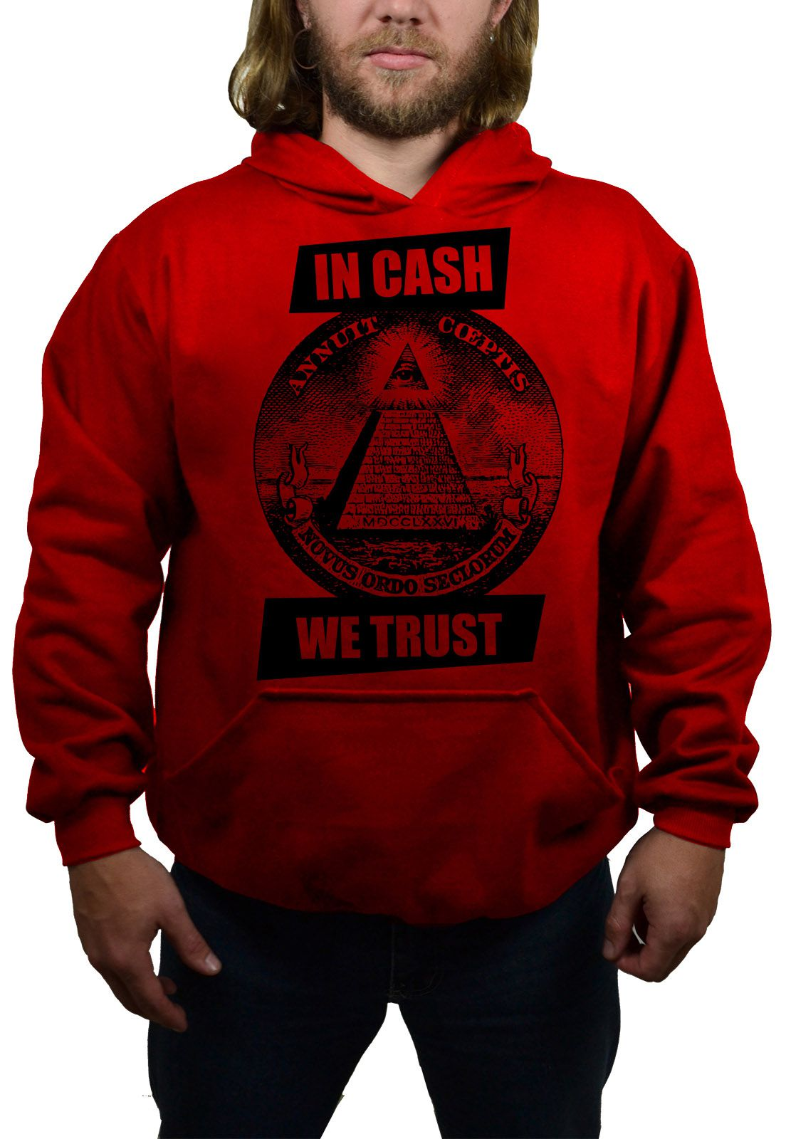 Moletom BUK In Cash We Trust - Vermelho  - HShop