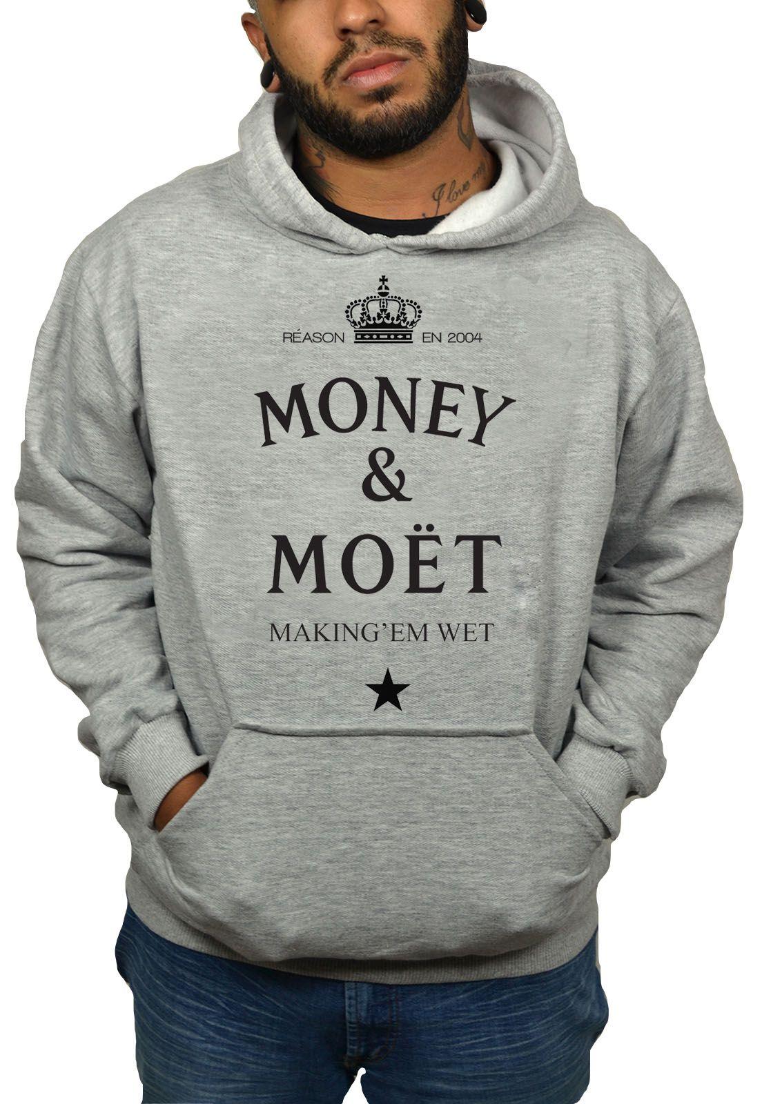 Moletom BUK Moet - Cinza Mescla  - HShop