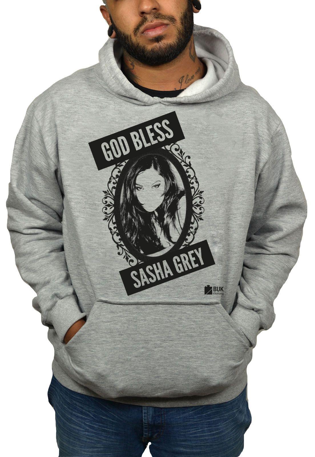 Moletom BUK Sasha Grey - Cinza Mescla  - HShop