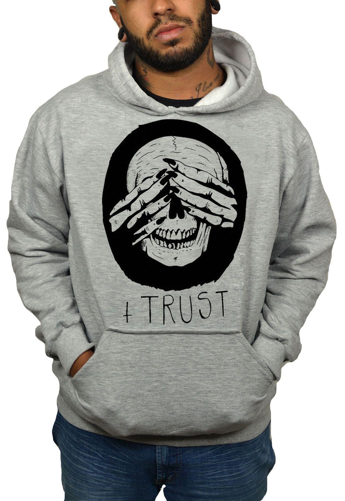 Moletom Hshop Trust Me - Cinza Mescla  - HShop