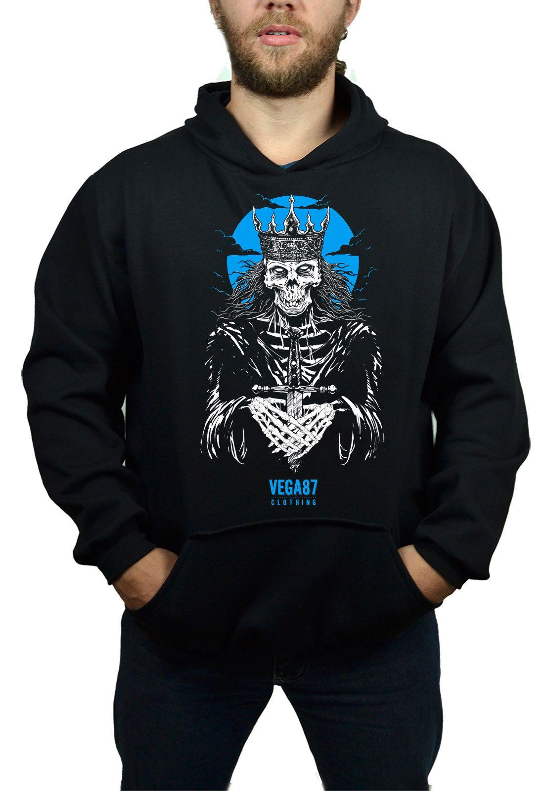 Moletom Vega87 Dead  King Preto  - HShop
