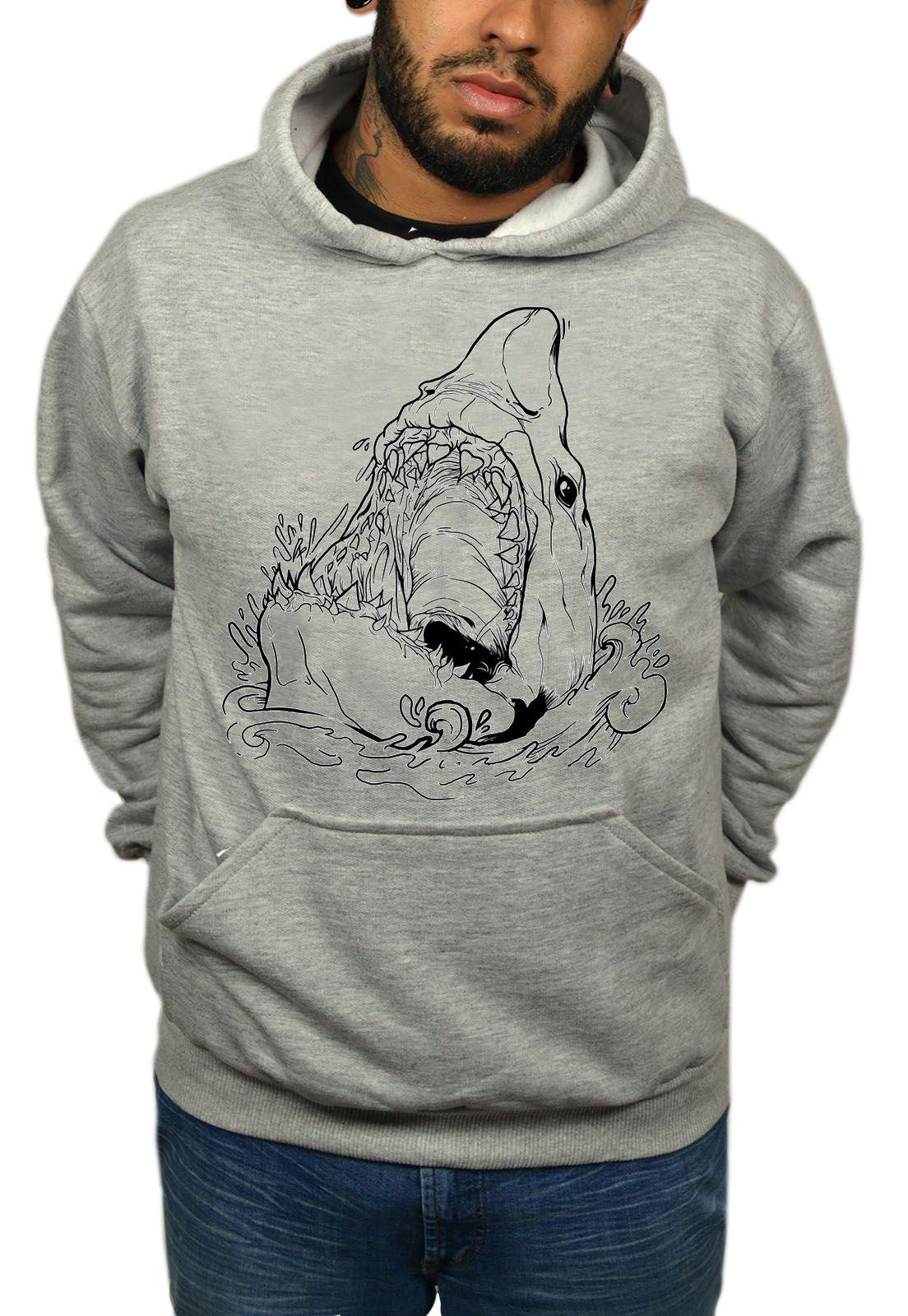 Moleton Holdfast Shark - Cinza Mescla  - HShop