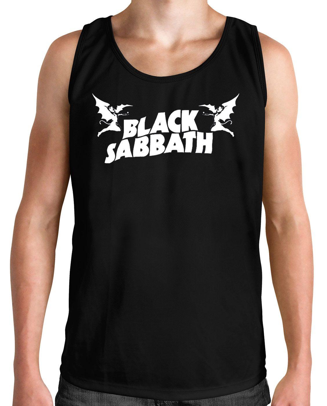 Regata Black Sabbath - Demon - Preto  - HShop