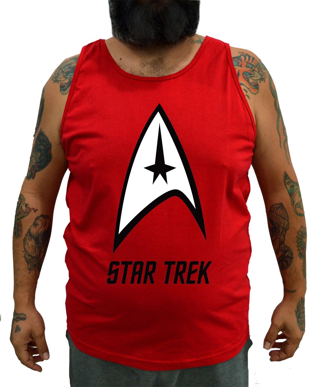 Regata Plus Size Star Trek Vermelha - Tamanho XG  - HShop