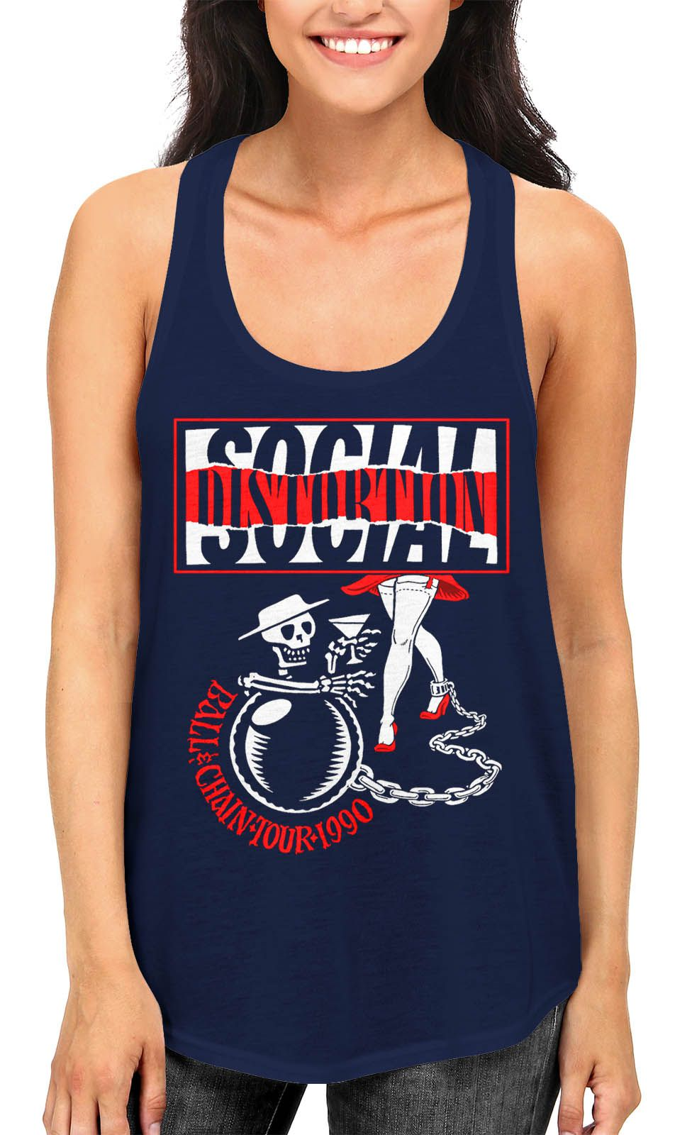 Regata Social Distortion Ball and Chain - Escolha a Cor  - HShop