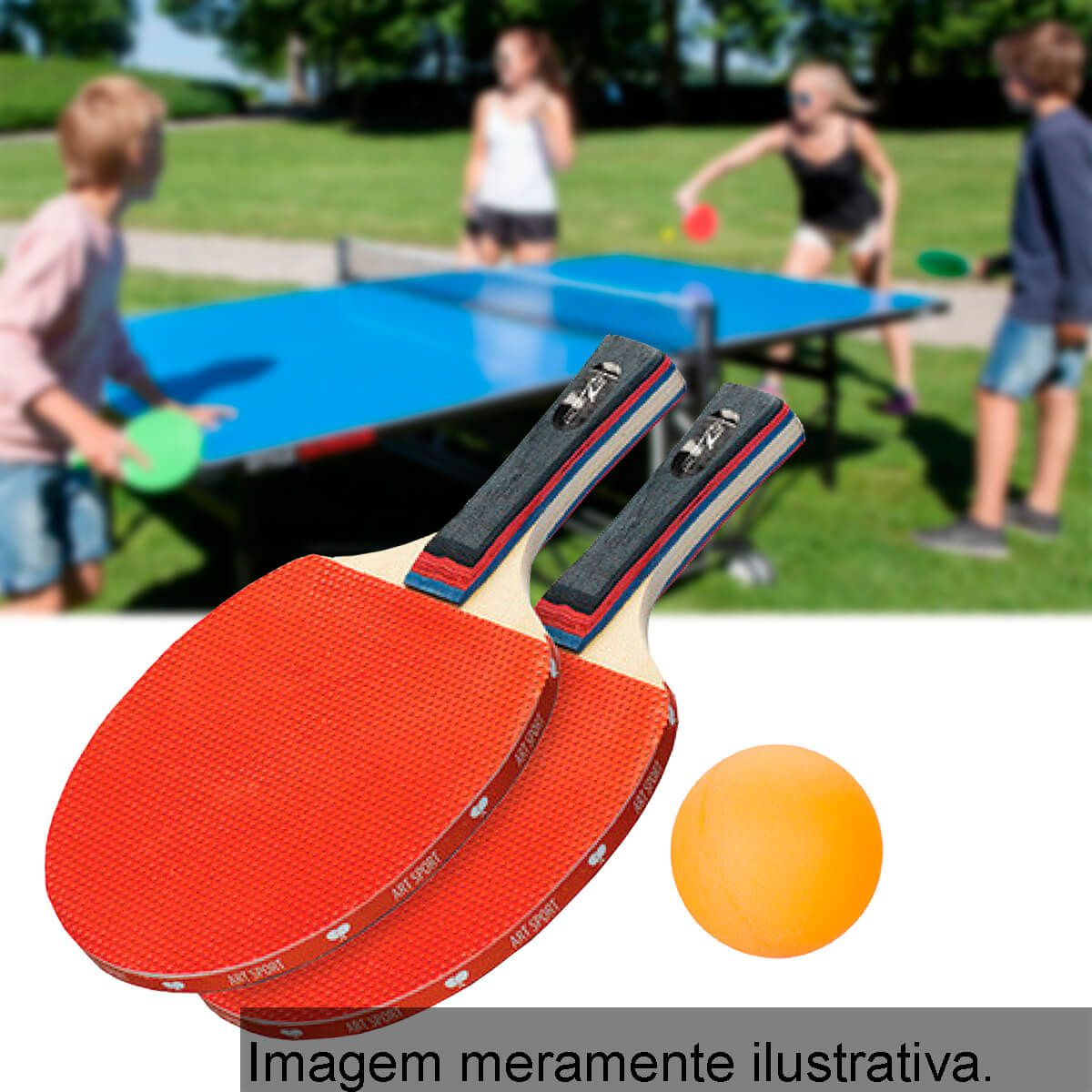 dafbb2bab Aê Comprou! Kit Ping Pong Tênis De Mesa 2 Raquetes