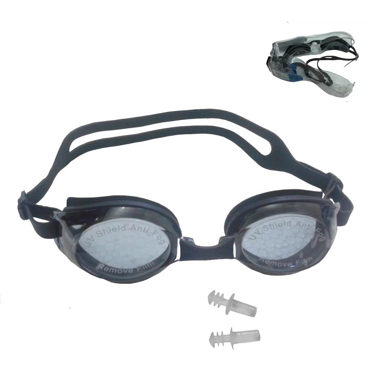 Óculos De Natação Pró-mergulho Com Estojo E Protetor Auricular - Aê Comprou! db7bf3248b