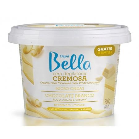 Cera Depilatória Cremosa Micro-Ondas Chocolate Branco 200g Depil Bella