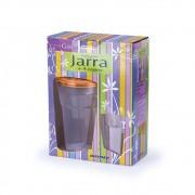 Conjunto Jarra 1,5L com 4 Copos de 450ml com Tampa Laranja