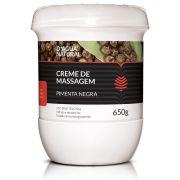 Creme De Massagem Pimenta Negra Termoterapia 650g D'Agua Natural