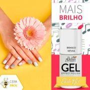 Esmalte Efeito Gel Branco Névoa - Bella Brazil Caixa com 6 Unidades