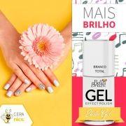 Esmalte Efeito Gel Branco Total - Bella Brazil Caixa com 6 Unidades