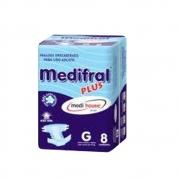 Fraldão Descartável Adulto Geriátrico Medifral Plus G 8un Medi House