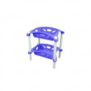 Fruteira Dupla Retangular de Plástico Azul