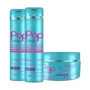 Kit Pop Teen Home Care Shampoo + Cond + Mascara Absoluty Color