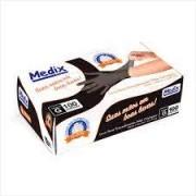 Luva Nitrilica Preta M-100un Medix