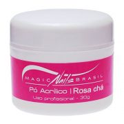 Pó Acrílico Rosa Chá 30g Magic Nails