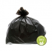 Saco de Lixo 0,025mm 60 Litros Preto 100un