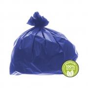 Saco de Lixo Super Leve 100 Litros Azul 100un