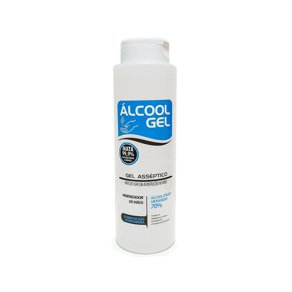Álcool Gel Asséptico Higienizador de Mãos 70% 300ml