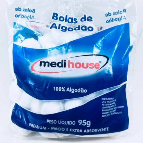 Algodão em Bolas 95g Medi House