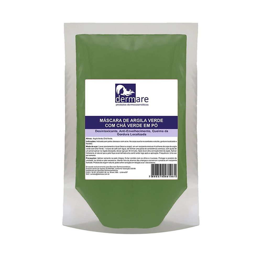 Argila Verde Com Chá Verde 1kg Dermare