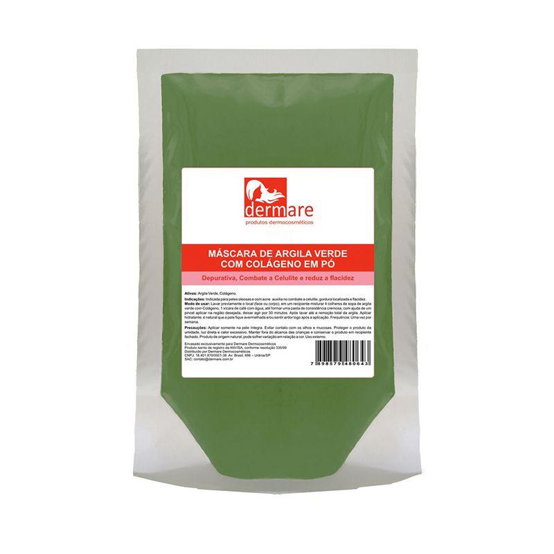 Argila Verde Com Colágeno 1kg Dermare