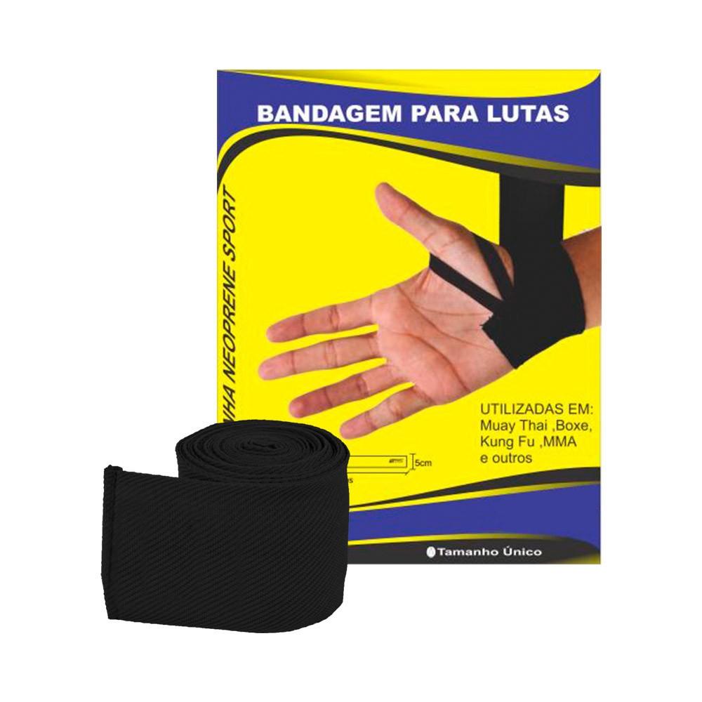 Bandagem Elástica Preta para Lutas RMC