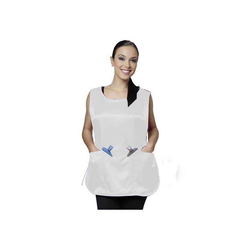 Bata em Seda Lisa Modelo Tiziana Branco Santa Clara